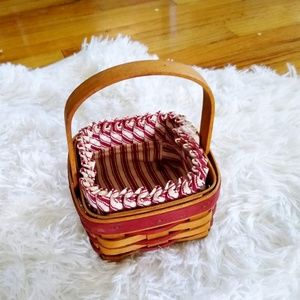 Small 1994 Longaberger Basket with Striped Liner